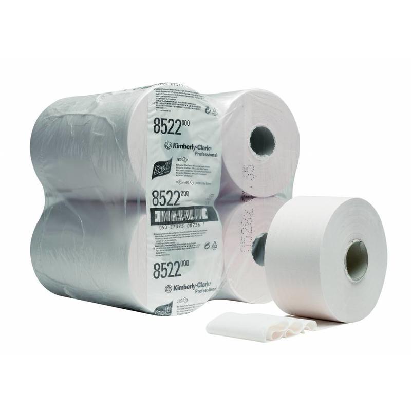 SCOTT® PERFORMANCE Toilettissue - Mini Jumbo / 180 - Wit