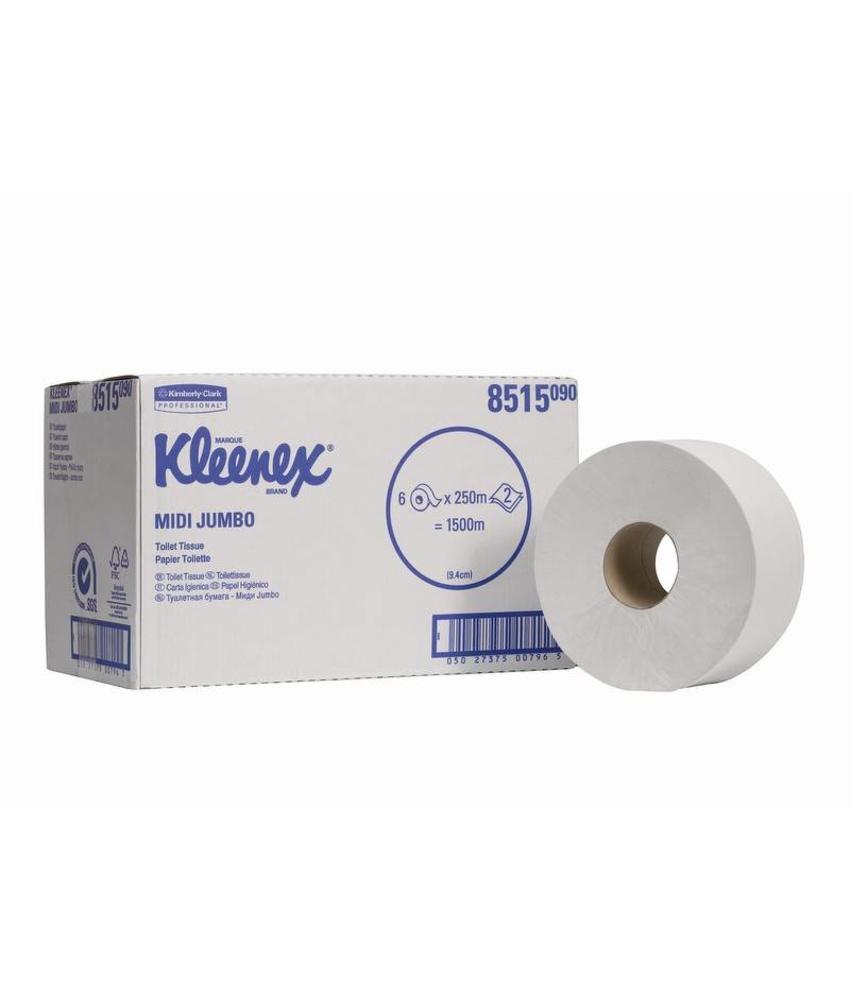 KLEENEX® Toilettissue - Midi Jumbo / 250 M / 78 - Wit