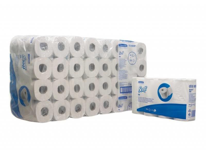 Kimberly Clark SCOTT® 350 Toilettissue Rollen - Kleine rollen / 350 - Wit