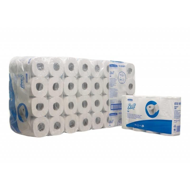 SCOTT® 350 Toilettissue Rollen - Kleine rollen / 350 - Wit