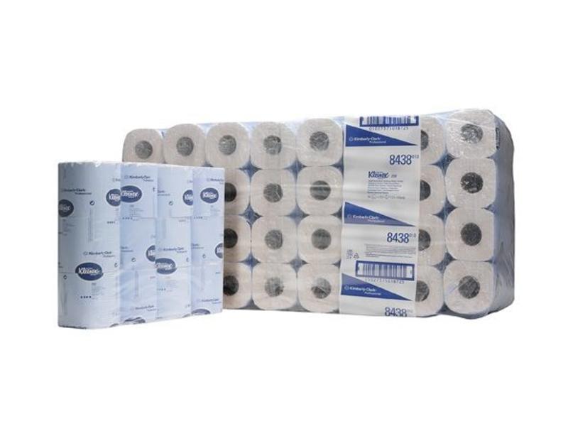 Kimberly Clark KLEENEX® 250 Toilettissue Rollen - Kleine rollen / 250 - Wit