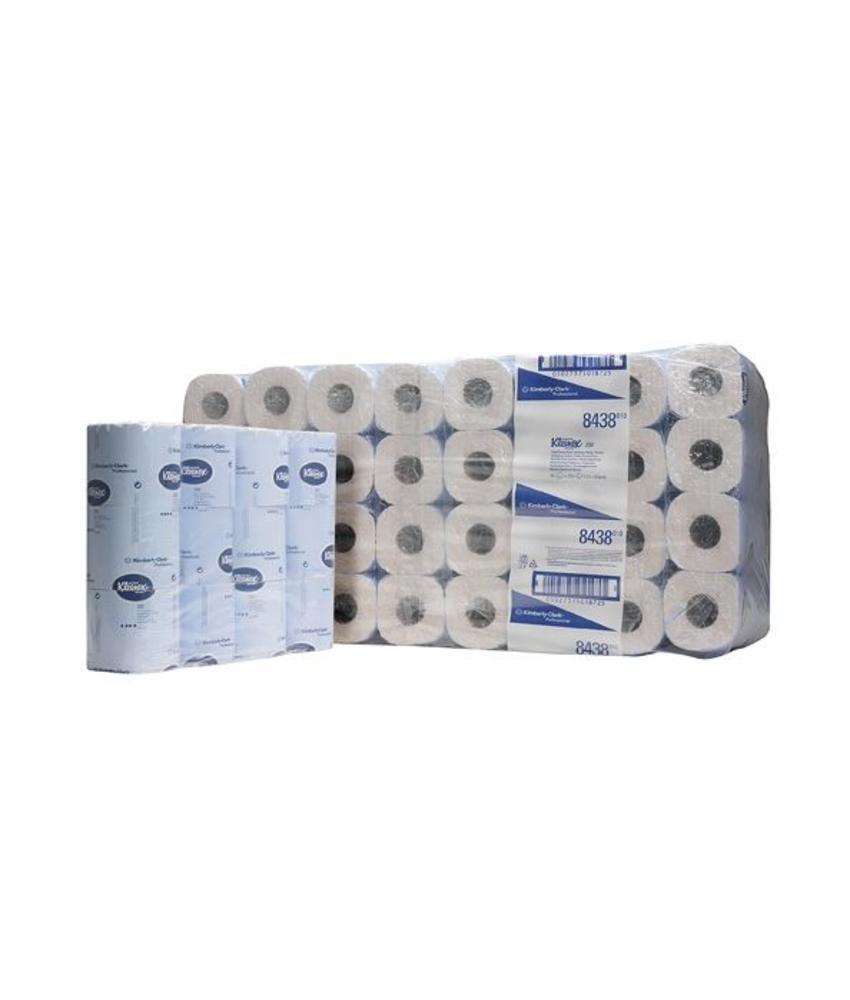 KLEENEX® 250 Toilettissue Rollen - Kleine rollen / 250 - Wit