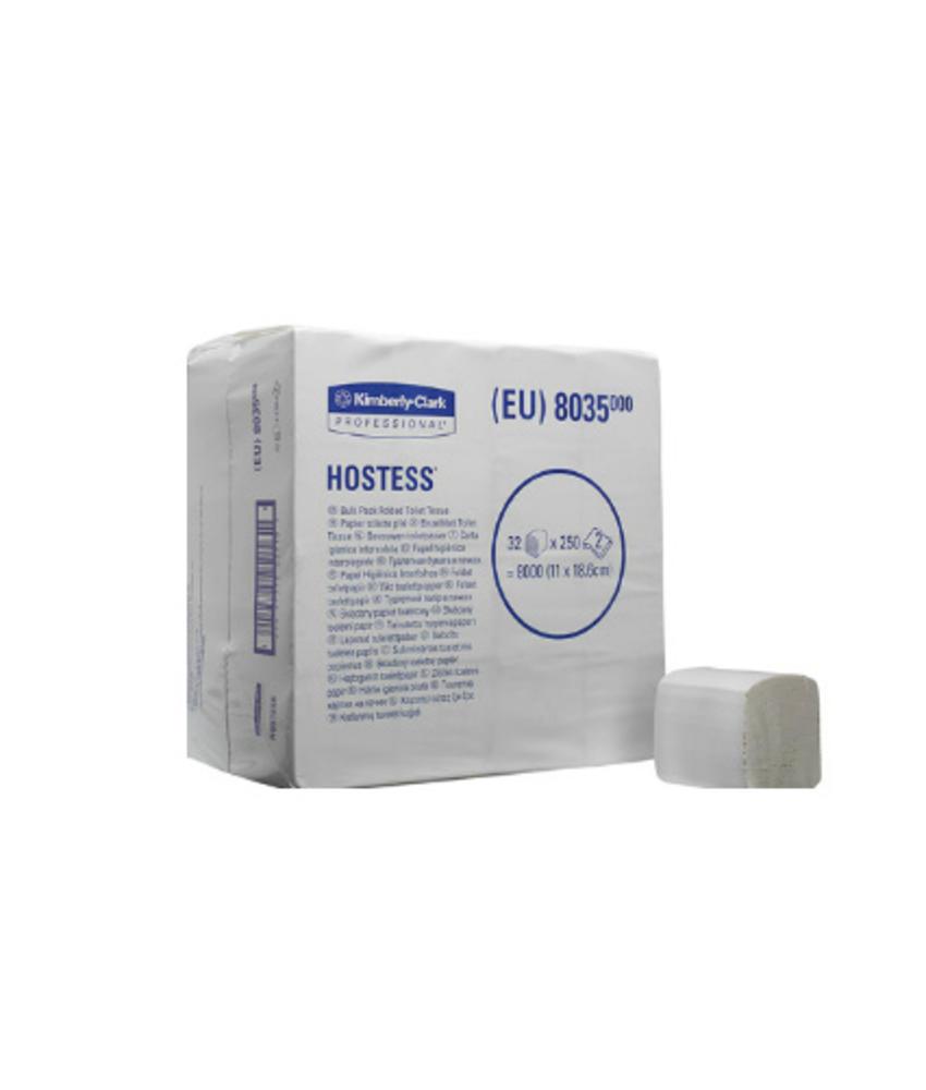 HOSTESS* 32 Toilettissue - Gevouwen / 250 - Wit