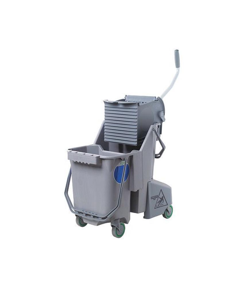 Unger SmartColor™ Combo 30l (Rolemmer + Pers), grijs