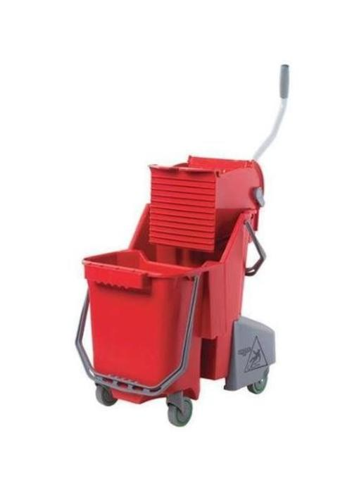 Unger Sanitair Combo 30 l (Rolemmer + Pers), rood