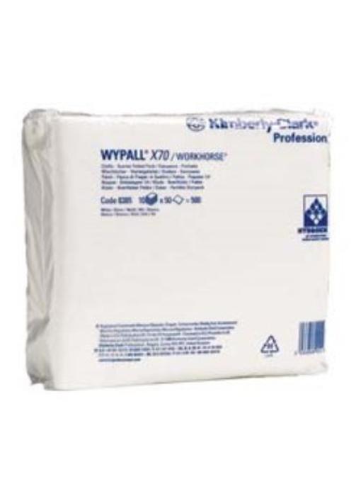WYPALL* X70 Doeken - 1/4 Gevouwen - Wit