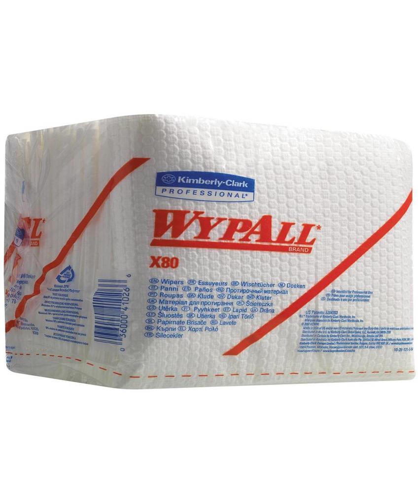 WYPALL* X80 Doeken - 1/4 Gevouwen - Wit