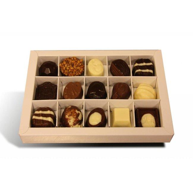 Chocolade bonbons met vulling 15 stuks