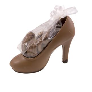 Dames schoen / naaldhak ca 200 gr chocolade