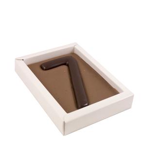Chocolade cijfer enkel 200 gr
