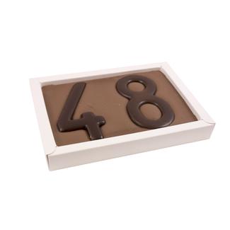 Chocolade cijfer dubbel 300 gr