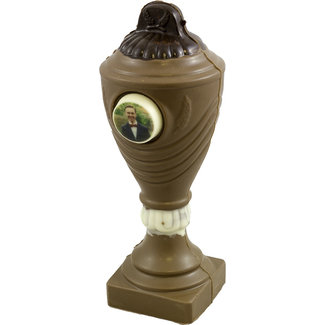 Chocolade Cup (wedstrijd) beker 22 cm met foto of logo