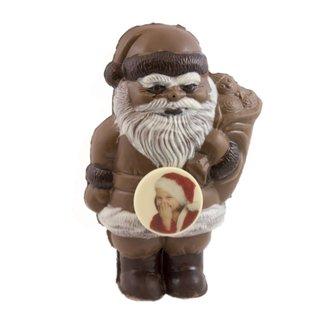 Chocolade kerstman met foto of logo 25 cm