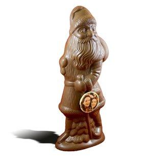Chocolade kerstman XL met foto of logo 50 cm