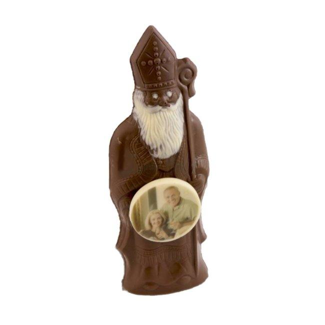 Chocolade Sint met foto of logo 25 cm groot