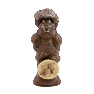 Chocolade Piet met foto, 25 cm groot