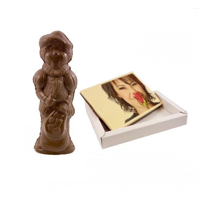 Chocolade Piet & kaart met foto 450 gram