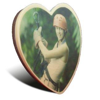 Chocolade hart groot met foto of logo 350 gr