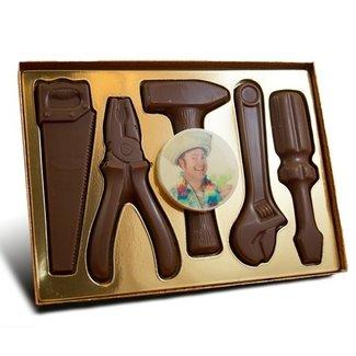 Chocolade gereedschap met foto of logo 225 gr