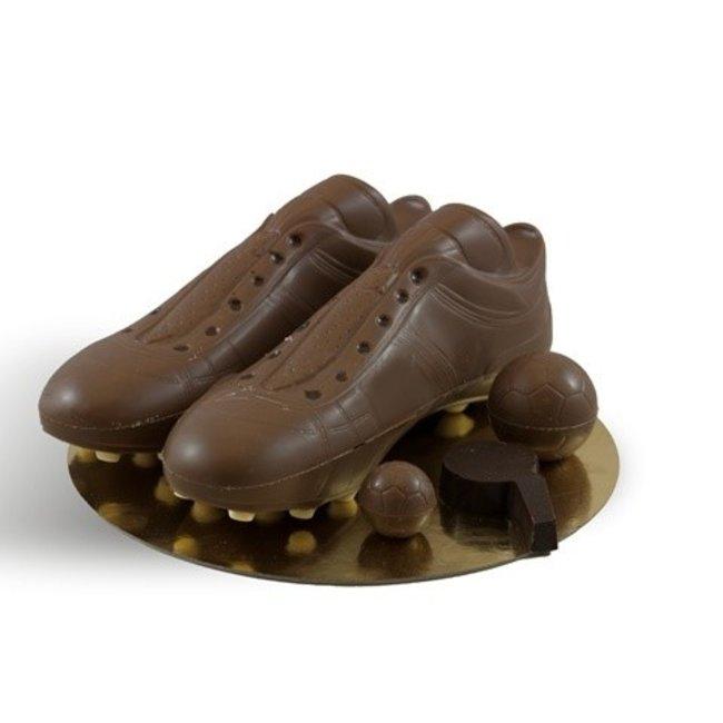 Chocolade voetbal schoenen set