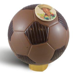 Chocolade voetbal 23 cm met foto of logo