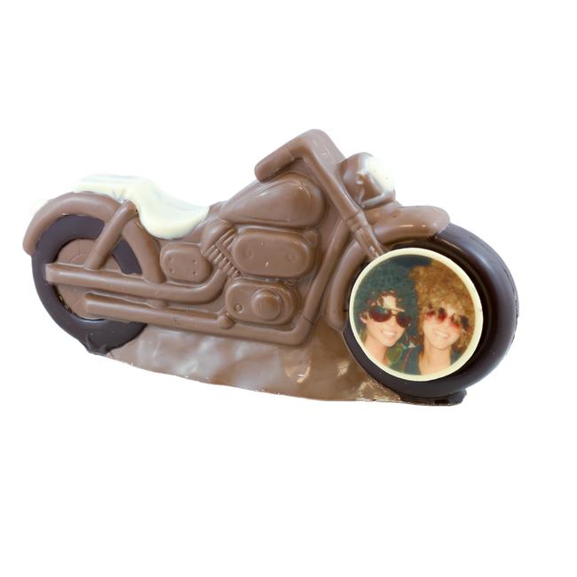 Chocolade motor 30 x 14 cm met foto of logo