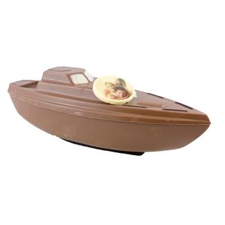 Chocolade boot / jacht 36 x 11 x 14 cm met foto of logo