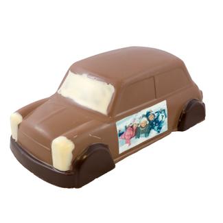 Chocolade Mini Cooper 30 x 16 x 12 cm met foto of logo