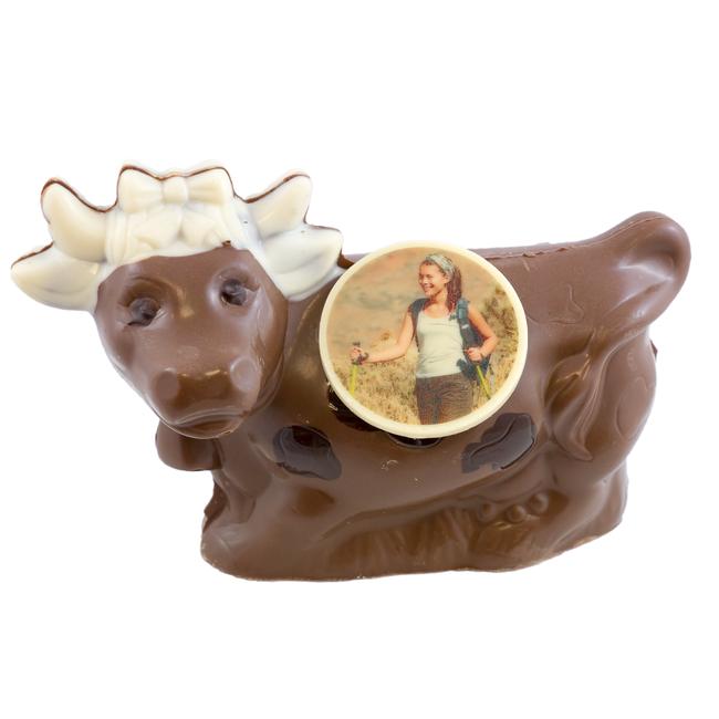 Chocolade Koe 13 x 20 cm met foto of logo