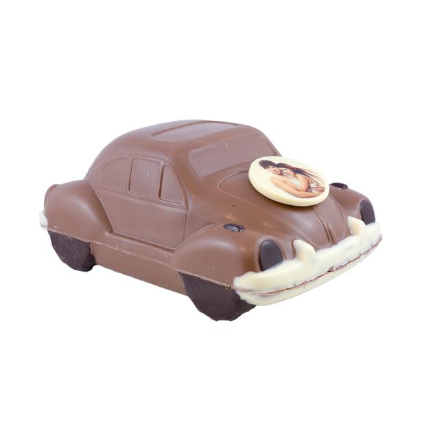 Chocolade Volkswagen Kever 26 x 15 x 12 cm auto met foto of logo