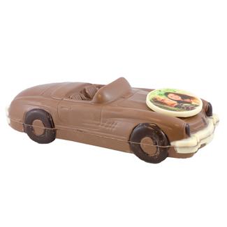 Chocolade auto Cabriolet 25 x 11 x 8 cm met foto of logo