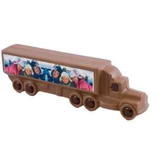Chocolade Vrachtwagen / Truck 25 x 9 cm met foto of logo