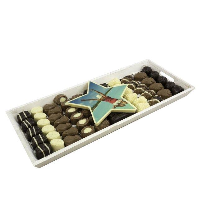 XXL Chocolade slagroom bonbon assortiment 1500 gram met ster foto of logo