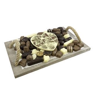 Chocolade bonbon (slagroom gevuld) assortiment 1500 gram met foto of logo