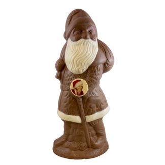 70 cm grote XXL chocolade kerstman met foto of logo