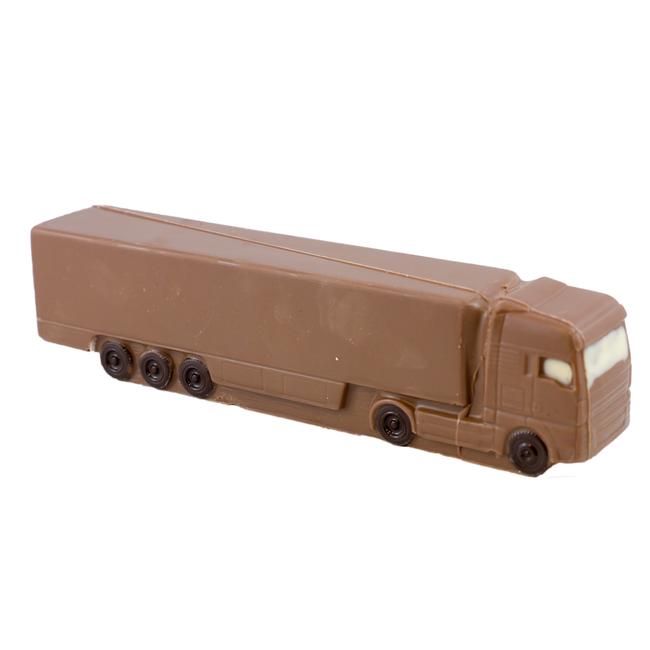 Chocolade Vrachtwagen met oplegger 25 cm
