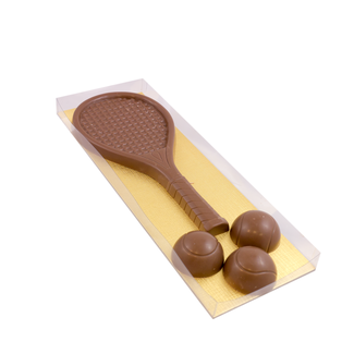 Chocolade Tennis set ca 300 gram