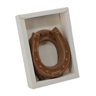 Chocolade set hoefijzers 10 cm