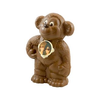 Chocolade aap 27 x 16 x 10 cm met foto of logo