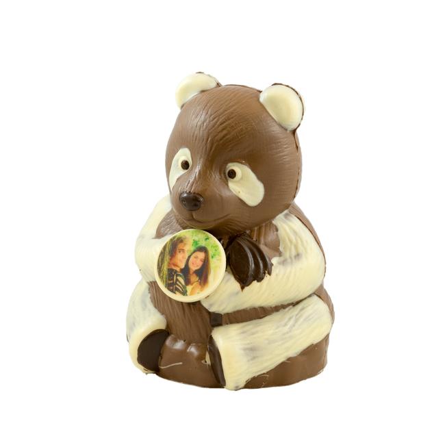 Chocolade panda 26 x 17 x 15 cm met foto of logo