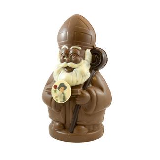 Chocolade Sint XXL 70 cm met foto of logo