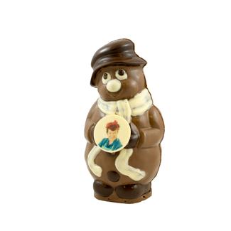 Chocolade Sneeuwpop met foto of logo 25 cm