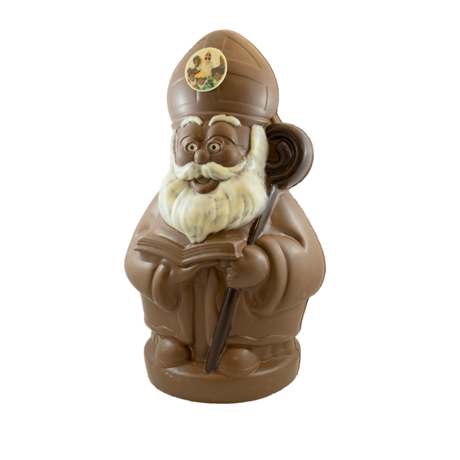 Chocolade Sinterklaas XL met foto of logo 50 cm