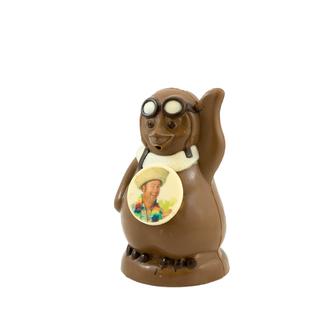 Chocolade Pinguin met foto of logo 20 cm
