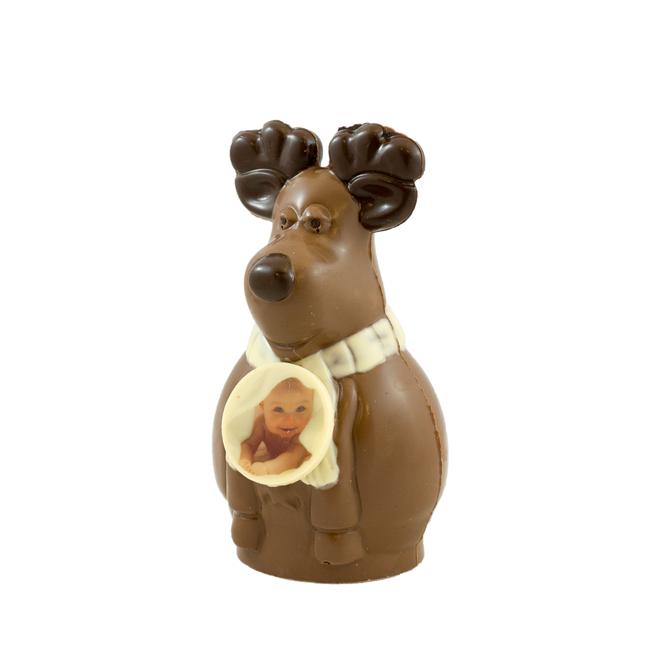 Chocolade Rendier Rudolf met foto of logo
