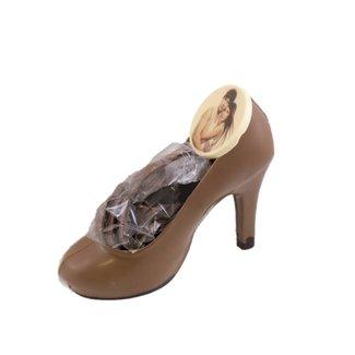Chocolade dames schoen met foto of logo 225 gr