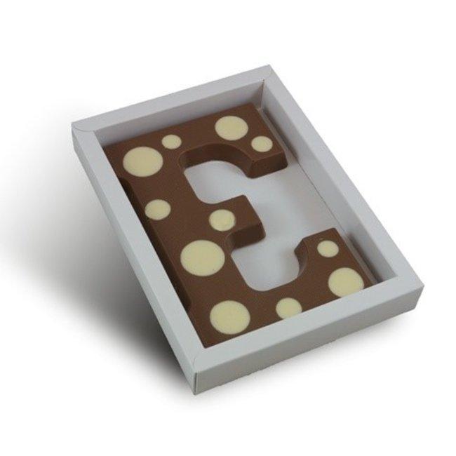 Chocolade letter met stippen 200 gr