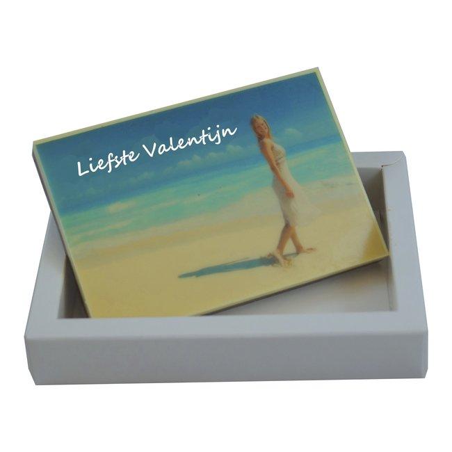 Chocolade Valentijnskaart met foto 18 x 12 cm