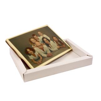 Chocolade Vaderdag kaart met foto 18 x 12 cm