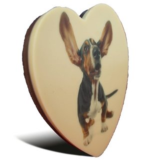 Chocolade Vaderdag hart met foto 17 x 15 cm
